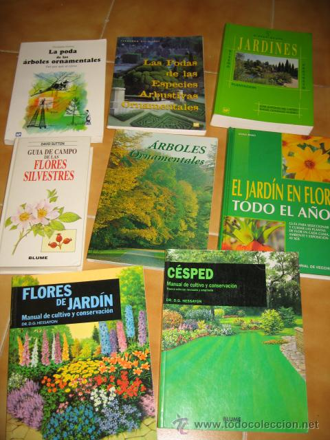 Lote de 8 libros especializados de jardineria y comprar for Libros de jardineria