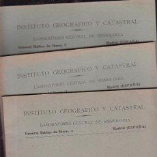Libros de segunda mano: BOLETIN SISMICO, LABORATORIO CENTRAL DE SISMOLOGIA - LOTE DE 13 EJEMPLARES. Lote 24875072