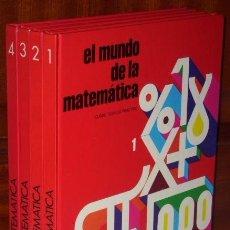 Libros de segunda mano de Ciencias: EL MUNDO DE LA MATEMÁTICA 4T DE EDICIONES OCÉANO EN BARCELONA 1985. Lote 137170937