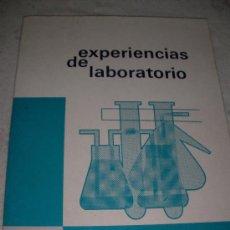 Libros de segunda mano de Ciencias: EXPERIENCIAS DE LABORATORIO - ENVIO GRATIS A ESPAÑA. Lote 22027914