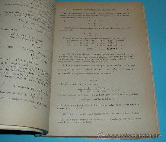 Libros de segunda mano de Ciencias: COLECCIÓN DE PROBLEMAS DE ARITMÉTICA, GEOMETRÍA, ALGEBRA Y FÍSICA ELEMENTAL. V.F. ASCARZA. E. SOLANA - Foto 3 - 22375000