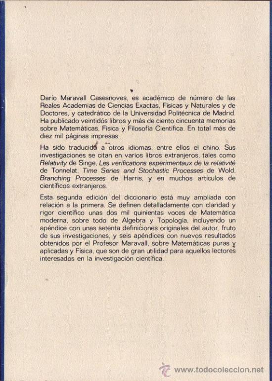 Libros de segunda mano de Ciencias: Dorso - Foto 2 - 27206167