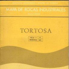 Libros de segunda mano: MAPA DE ROCAS INDUSTRIALES - TORTOSA. Lote 23056856