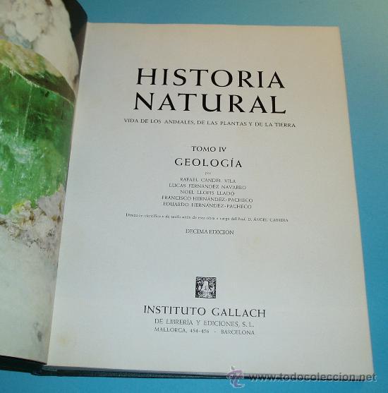 Libros de segunda mano: HISTORIA NATURAL. TOMO IV. GEOLOGÍA - Foto 2 - 25136774