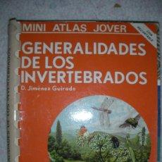 Libros de segunda mano: MINI ATLAS JOVER - GENERALIDADES DE LOS INVERTEBRADOS - ENVIO GRATIS A ESPAÑA. Lote 24793442