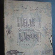 Libros de segunda mano: BIOLOGÍA MODERNA. PUJIULA, JAIME. 1949. Lote 25142018