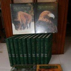 Libros de segunda mano: FAUNA MUNDIAL 10T Y 15VHS POR FÉLIX RODRÍGUEZ DE LA FUENTE DE SALVAT, PAMPLONA 1996. Lote 27623740