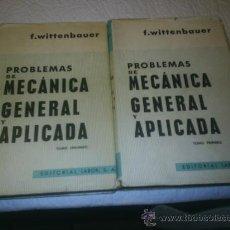 Libros de segunda mano de Ciencias: M69 DOS TOMOS DE PROBLEMAS DE MECANICA GENERAL Y APLICADA. Lote 26878586