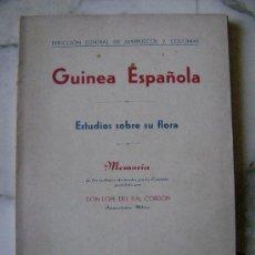 Libros de segunda mano: GUINEA ESPAÑOLA.ESTUDIOS SOBRE SU FLORA.531. Lote 26402539