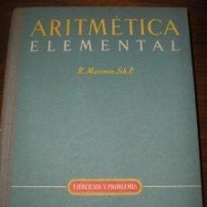 Libros de segunda mano de Ciencias: ARITMETICA ELEMENTAL. Lote 26606440