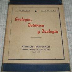 Libros de segunda mano: CIENCIAS NATURALES QUINTO CURSO BACHILLERATO (PLAN 1957). Lote 27612891