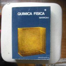 Libros de segunda mano de Ciencias: QUIMICA FISICA POR GORDON M. BARROW EDITORIAL REVERTE TOMOS I Y II. Lote 27747911