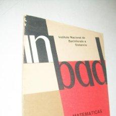 Libros de segunda mano de Ciencias: INBAD-MATEMÁTICAS,DOCUMENTO 2,EJERCICIOS RESUELTOS-INSTITUTO NACIONAL DE BACHILLERATO A DISTANCIA-. Lote 28123866