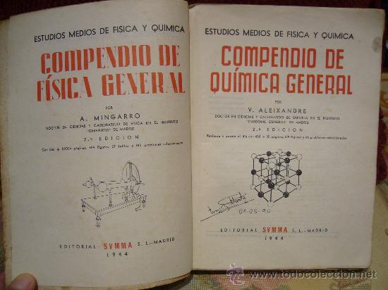 Libros de segunda mano de Ciencias: COMPENDIO DE QUIMICA GENERAL DE VICENTE ALEIXANDRE. 1.944. - Foto 2 - 28407080