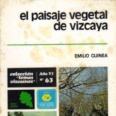 Libros de segunda mano: COLECCIÓN TEMAS VIZCAÍNOS - Nº 63 - EL PAISAJE VEGETAL DE VIZCAYA. Lote 28575506