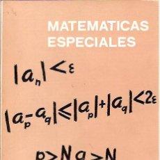 Livres d'occasion: MATEMÁTICAS ESPECIALES (MADRID, 1974) SIXTO RÍOS. Lote 28735604