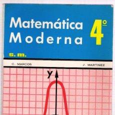 Libros de segunda mano de Ciencias: MATEMATICA MODERNA. Lote 28946403