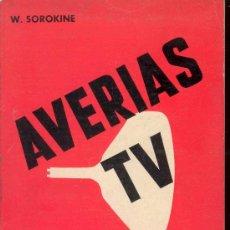Libros de segunda mano de Ciencias: AVERIAS TV DE VALVULAS, SINTOMAS DIAGNOSTICOS SOLUCIONES DE 202 CASOS, AÑO 1.964. Lote 26040460