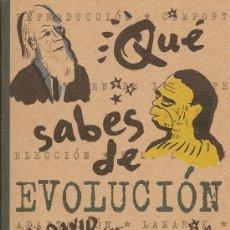 Libros de segunda mano: QUÉ SABES DE EVOLUCIÓN DE DAVID BURNIE (EDICIONES B). Lote 29230501