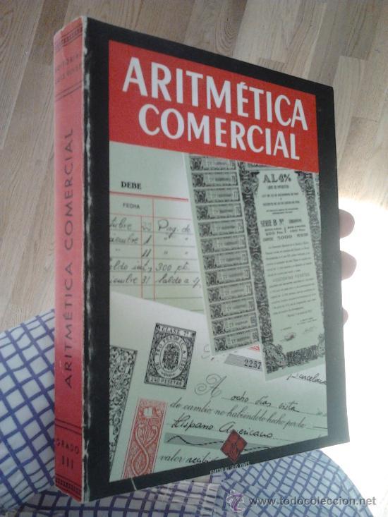 ARITMÉTICA COMERCIAL - TERCER GRADO (Libros de Segunda Mano - Ciencias, Manuales y Oficios - Física, Química y Matemáticas)