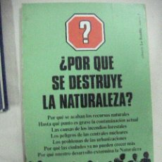Libros de segunda mano: ¿PORQUE SE DESTRUYE LA NATURALEZA? (EM2). Lote 30216593