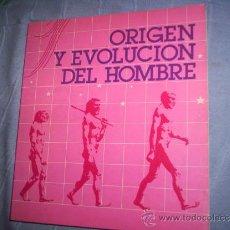 Libros de segunda mano: ORIGEN Y EVOLUCION DEL HOMBRE. . Lote 30235668