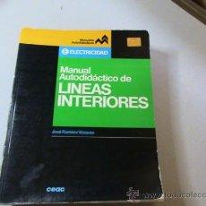 Libros de segunda mano de Ciencias: MANUAL AUTODIDACTICO DE LINEAS INTERIORES. (AUTOR: JOSÉ RAMIREZ VAZQUEZ) . Lote 31162997