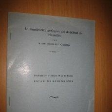 Libros de segunda mano: LA CONSTITUCIÓN GEOLÓGICA DEL ANTICLINAL DE HONRUBIA - MAXIMINO SAN MIGUEL DE LA CÁMARA. GEOLOGÍA. Lote 31395525
