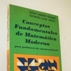Libros de segunda mano de Ciencias: CONCEPTOS FUNDAMENTALES DE MATEMÁTICA MODERNA, PARA PROFESORES DE ESCUELA PRIMARIA-1ª. EDC.- 1972. Lote 31390934