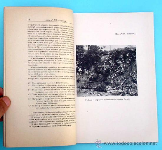 Libros de segunda mano: MAPA GEOLOGICO DE ESPAÑA. GUISONA. (LERIDA Y BARCELONA) MADRID. TIP. LIT. COULLAUT, 1950. - Foto 4 - 31768440