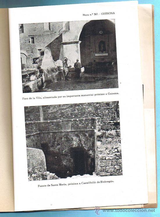 Libros de segunda mano: MAPA GEOLOGICO DE ESPAÑA. GUISONA. (LERIDA Y BARCELONA) MADRID. TIP. LIT. COULLAUT, 1950. - Foto 3 - 31768440