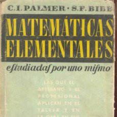 Libros de segunda mano de Ciencias: MATEMATICAS ELEMENTALES - ESTUDIADAS POR UNO MISMO - CUARTA PARTE, TRIGONOMETRIA - EDI REVERTE 1950. Lote 32042623
