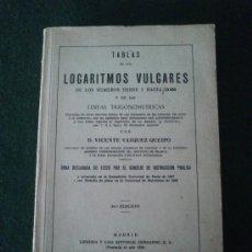 Libros de segunda mano de Ciencias: TABLAS DE LOGARITMOS VULGARES.. Lote 32231012
