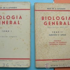 Libros de segunda mano: BIOLOGÍA GENERAL. ALVARADO. 2 TOMOS. 1959/60. Lote 32256300