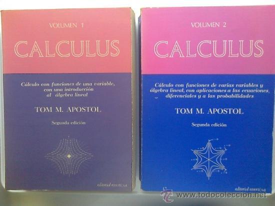 CALCULO TOM APOSTOL VOL 1 PDF