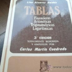 Libros de segunda mano de Ciencias: TABLAS FINANCIERAS, ARITMETICAS, TRIGONOMETRICAS, LOGARITMICAS. MARIN CUADRADO. ED. DOSSAT. 1975. Lote 32593103
