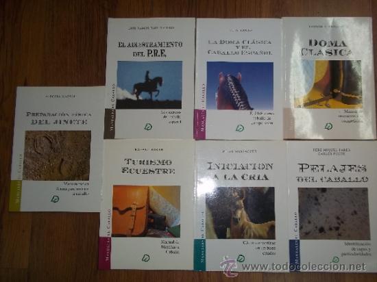 MANUALES EL CABALLO 7 TOMOS: DOMA CLASICA; INICIACION A LA CRIA; TURISMO ECUESTRE; ...ED. EL CABALLO (Libros de Segunda Mano - Ciencias, Manuales y Oficios - Biología y Botánica)