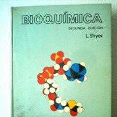 Libros de segunda mano: BIOQUIMICA .AUTOR: L.STRYER .AÑO 1982. Lote 32759170
