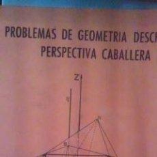 Libros de segunda mano de Ciencias: PROBLEMAS DE GEOMETRÍA DESCRIPTIVA. PERSPECTIVA CABALLERA (MADRID, 1975) PROBLEMAS DE PRÁCTICAS 1974. Lote 32901653