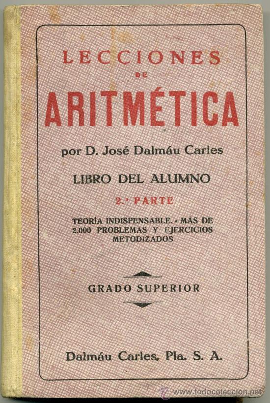 LECCIONES DE ARITMÉTICA. (Libros de Segunda Mano - Ciencias, Manuales y Oficios - Física, Química y Matemáticas)