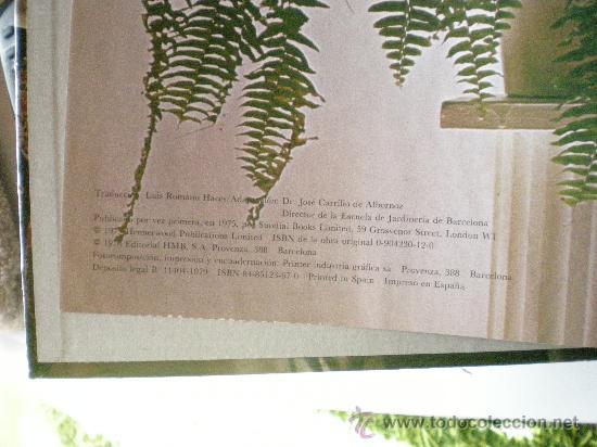 Libros de segunda mano: plantas y flores en casa año 1978 editorial HMB, S.A. provenza barcelona - Foto 2 - 33524756