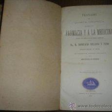 Libros de segunda mano de Ciencias: TRATADO QUIMICA ORGANICA FARMACIA POR D.R. BONIFACIO VELASCO Y PANO UNIVERSIDAD DE GRANADA AÑO 1872. Lote 33972702
