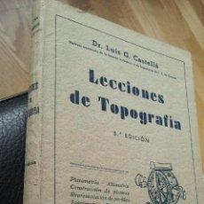 Libros de segunda mano de Ciencias: LECCIONES DE TOPOGRAFIA. CASTELLA. 1942.. Lote 34272968