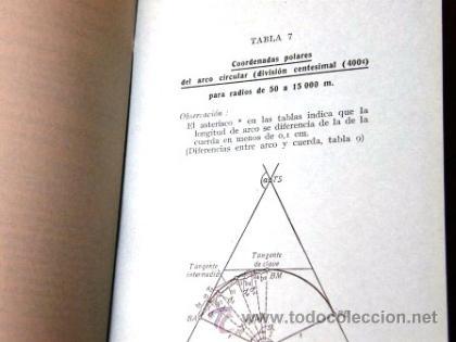 Libros de segunda mano de Ciencias: TABLAS NUMERICAS PAR EL REPLANTEO DE CURVAS- N. KESTING / O. HEDRICH- - Foto 4 - 34335163