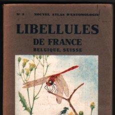 Libros de segunda mano: ENTOMOLOGIA - 1948 - LIBELLULES DE FRANCE - L.CHOPARD - LAMINAS COLOR - EN FRANCES *. Lote 34624021