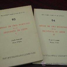 Libros de segunda mano: MINAS DE ORO ROMANAS DE LA PROVINCIA DE LEÓN. 2 VOL. 1977. HOJAS SIN ABRIR.. Lote 34906089