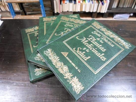 GUIA PRACTICA DE LAS PLANTAS MEDICINALES Y LA SALUD, EDITORS, 1998, 4 TOMOS (Libros de Segunda Mano - Ciencias, Manuales y Oficios - Biología y Botánica)
