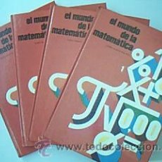 Libros de segunda mano de Ciencias: LOTE: EL MUNDO DE LA MATEMÁTICA. 4 VOL: COMPLETO. CURSO TEÓRICO PRÁCTICO. ISBN 8485317505.. Lote 35373467