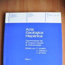 Libros de segunda mano: ACTA GEOLÒGICA HISPÀNICA VOLUM 21-22 (1986-87) - PART 1 - FACULTAT DE GEOLOGIA UNIVERSITAT BARCELONA. Lote 36054586