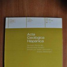 Libros de segunda mano: ACTA GEOLÒGICA HISPÀNICA VOLUM 20 (1985) - NÚM. 1 - FACULTAT DE GEOLOGIA UNIVERSITAT DE BARCELONA . Lote 36054632